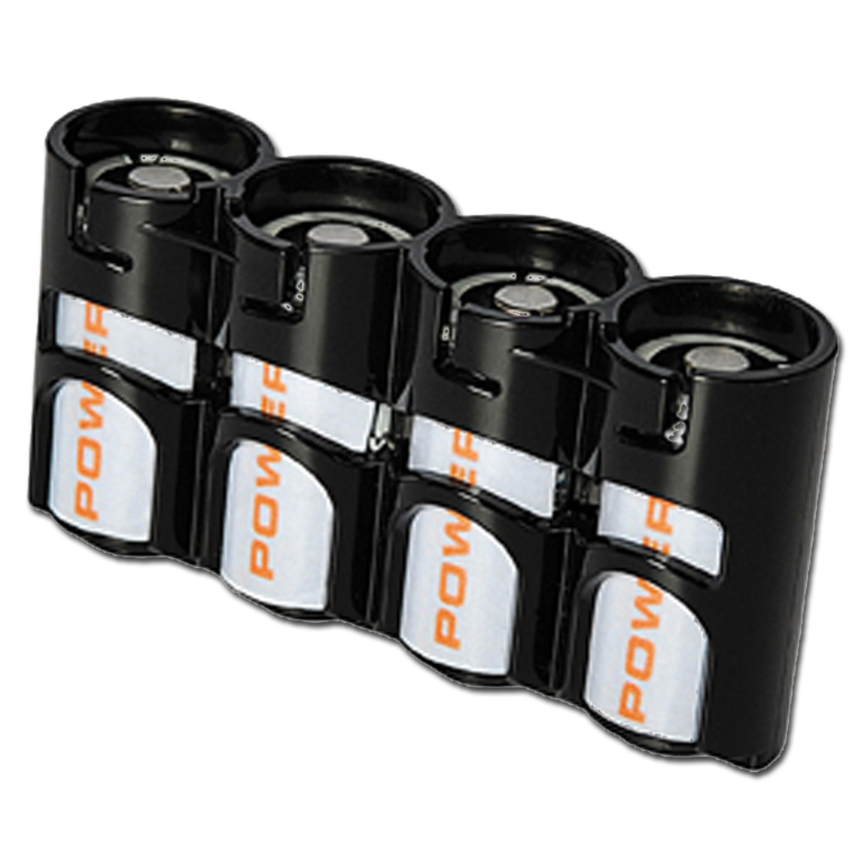 Portabatterie Powerpax SlimLine 4x CR123 nero