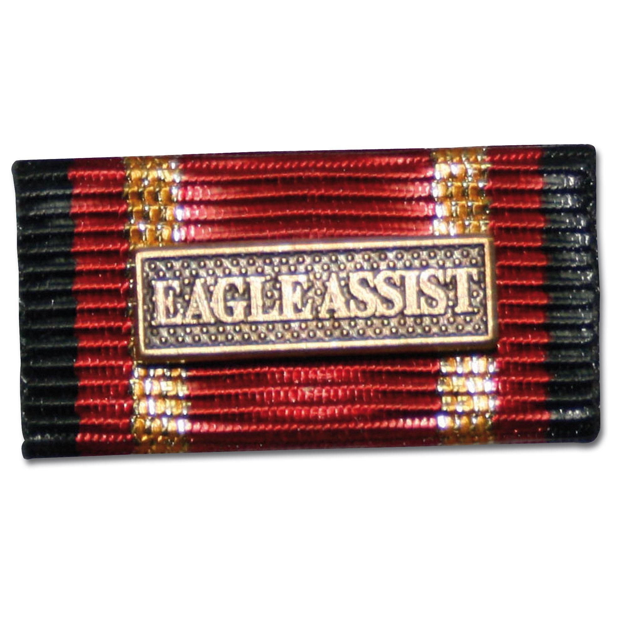 Label Pin Auslandseinsatz EAGLE ASSIST bronze