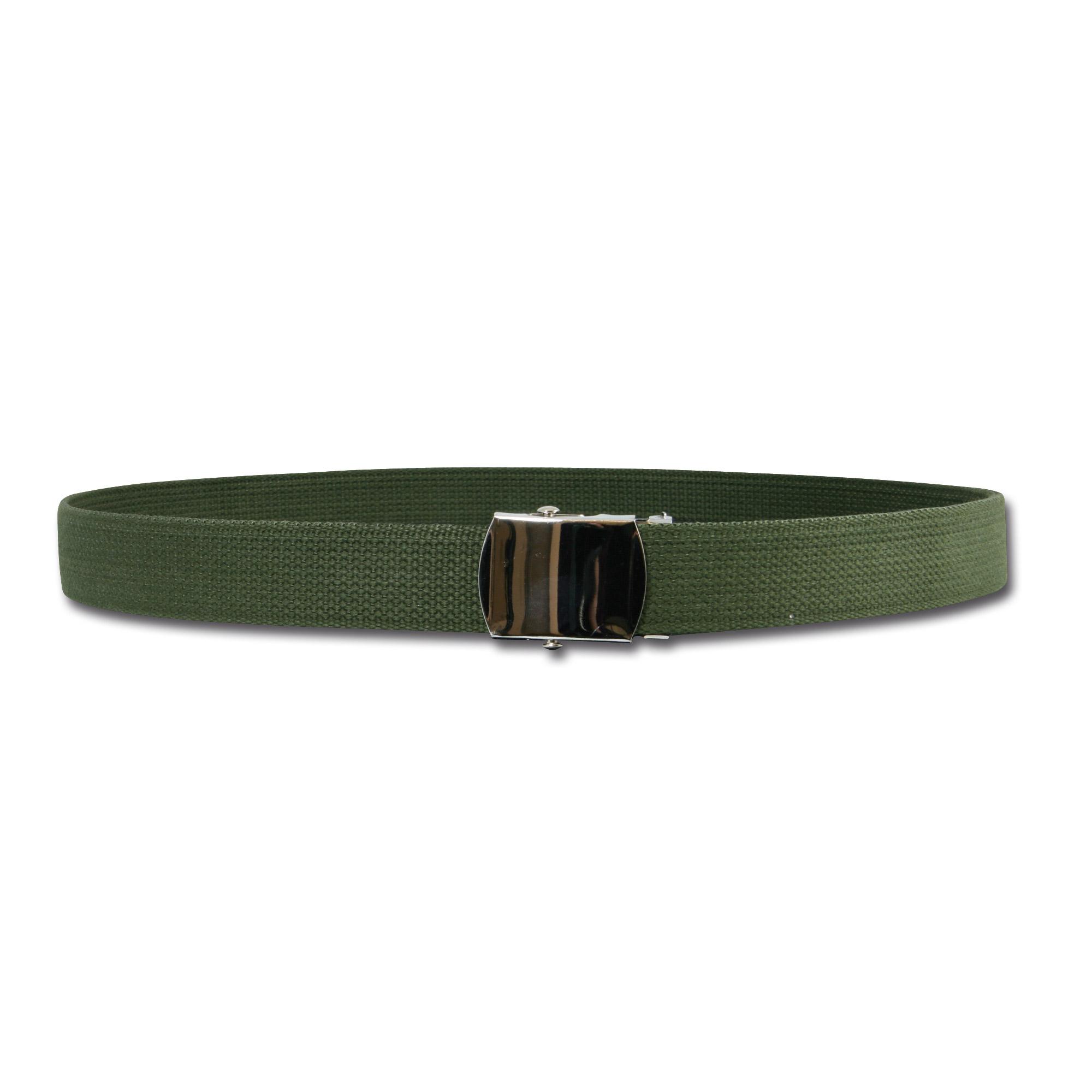 Cintura con fibbia regolabile, verde oliva