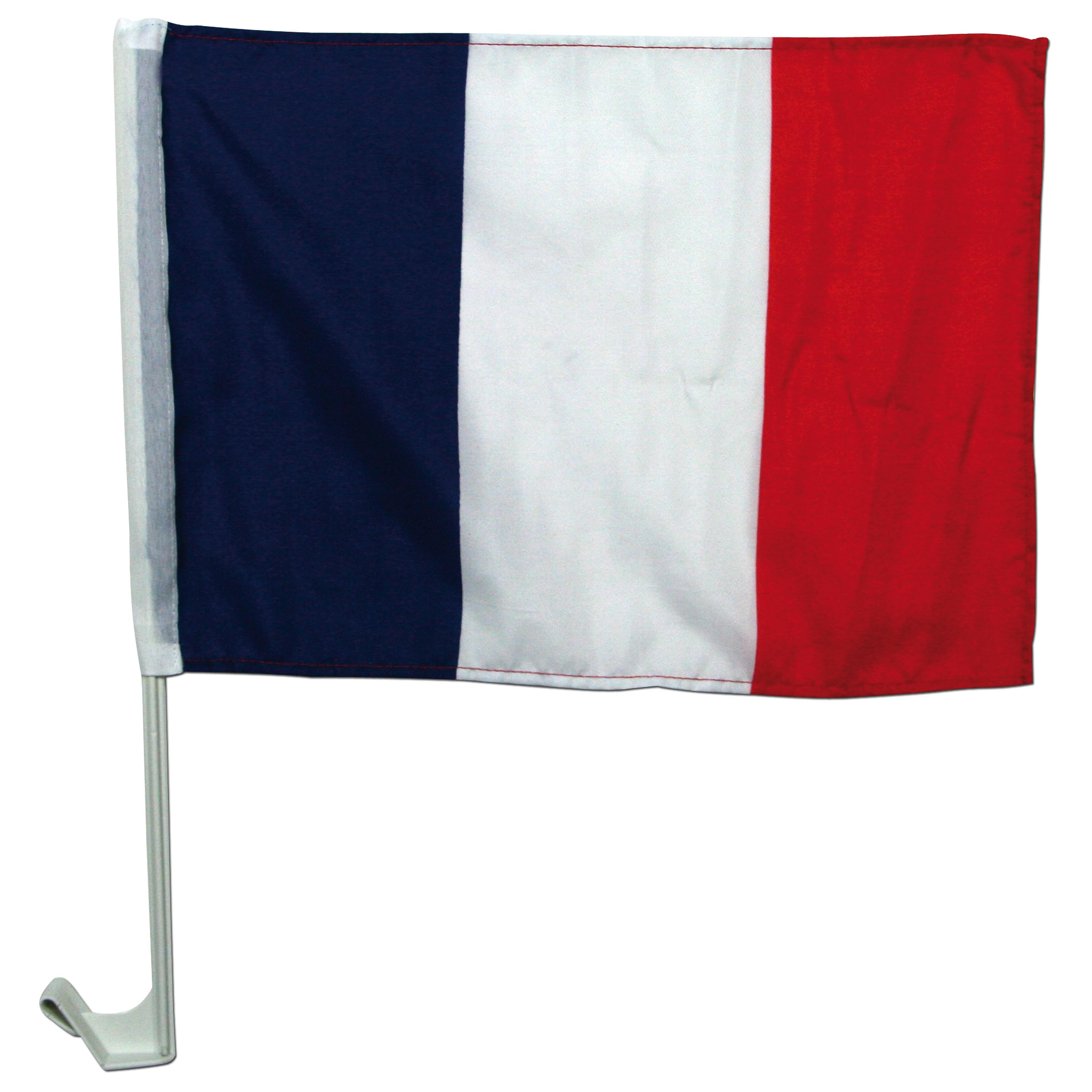 Fan-Kit France with flag and car flagstand