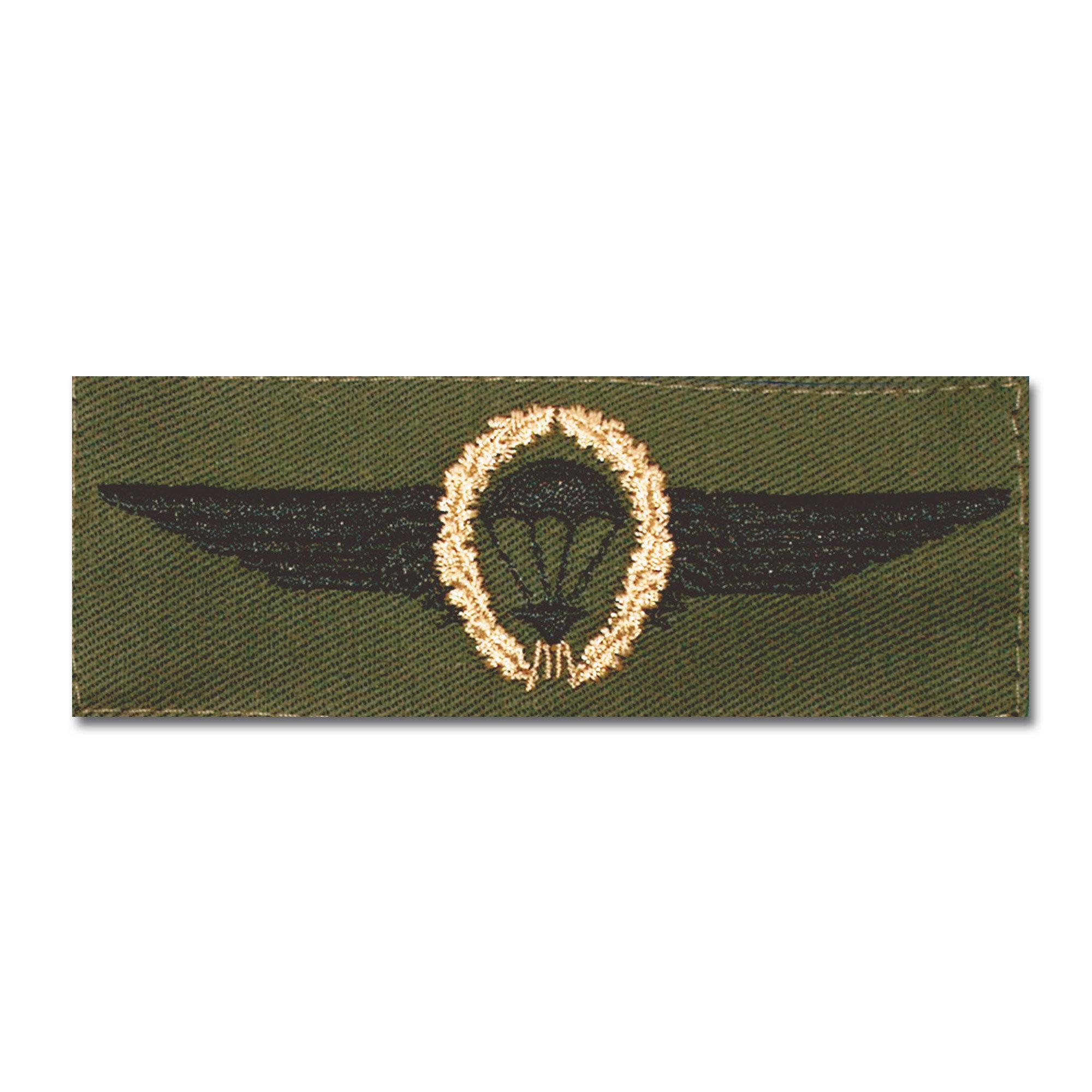 Distintivo in tessuto BW paracadutista bronzo/verde oliva