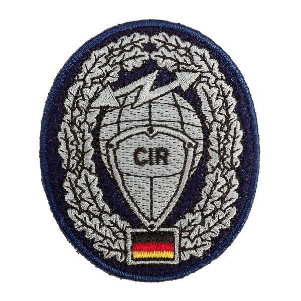 Distintivo in tessuto da berretto BW Cyber ed informazioni CIR