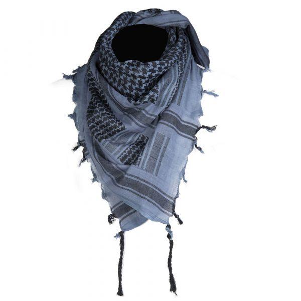 Shemagh marca Mil-Tec 110x110 cm blu nero