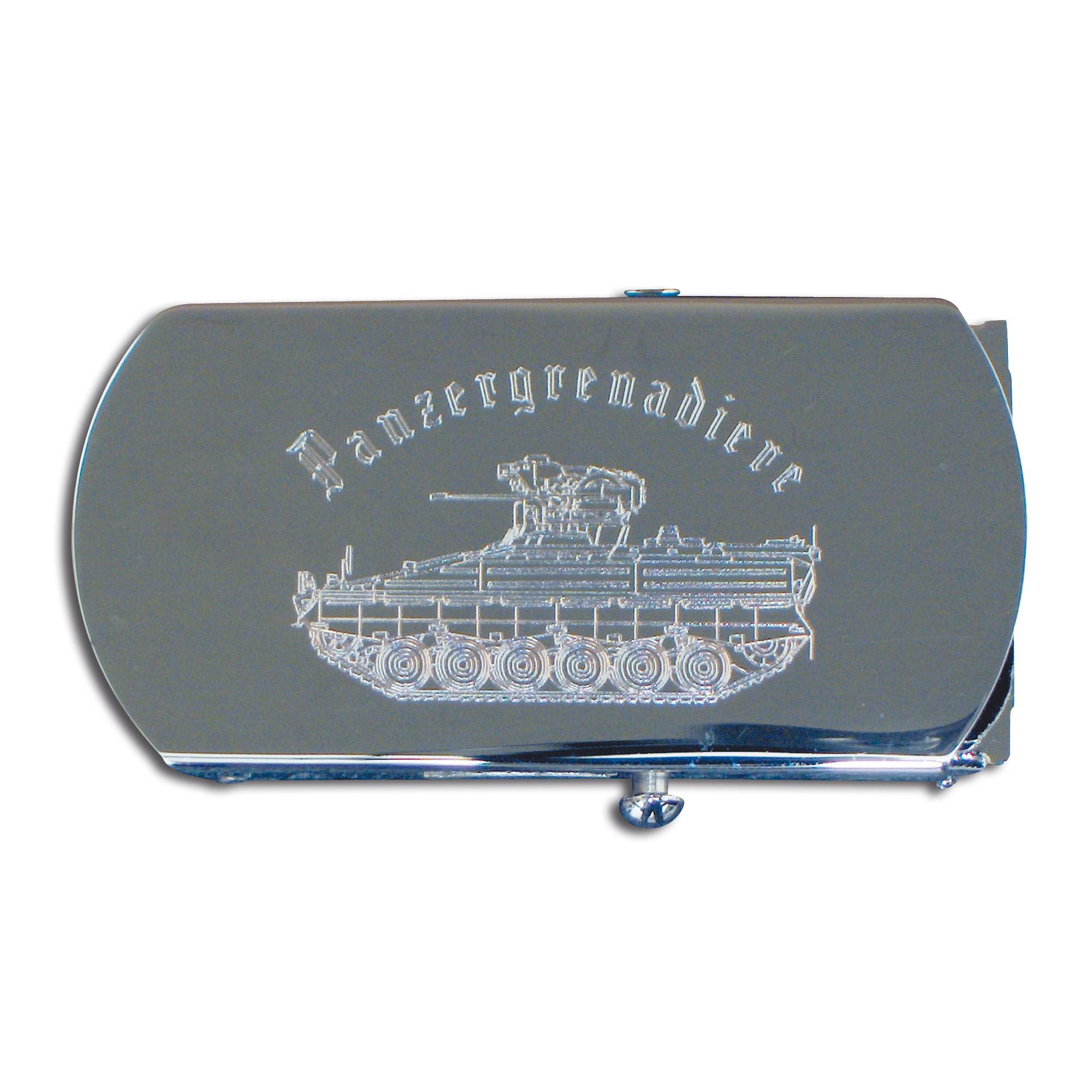 Cintura con fibbia in metallo incisione Panzergranadier