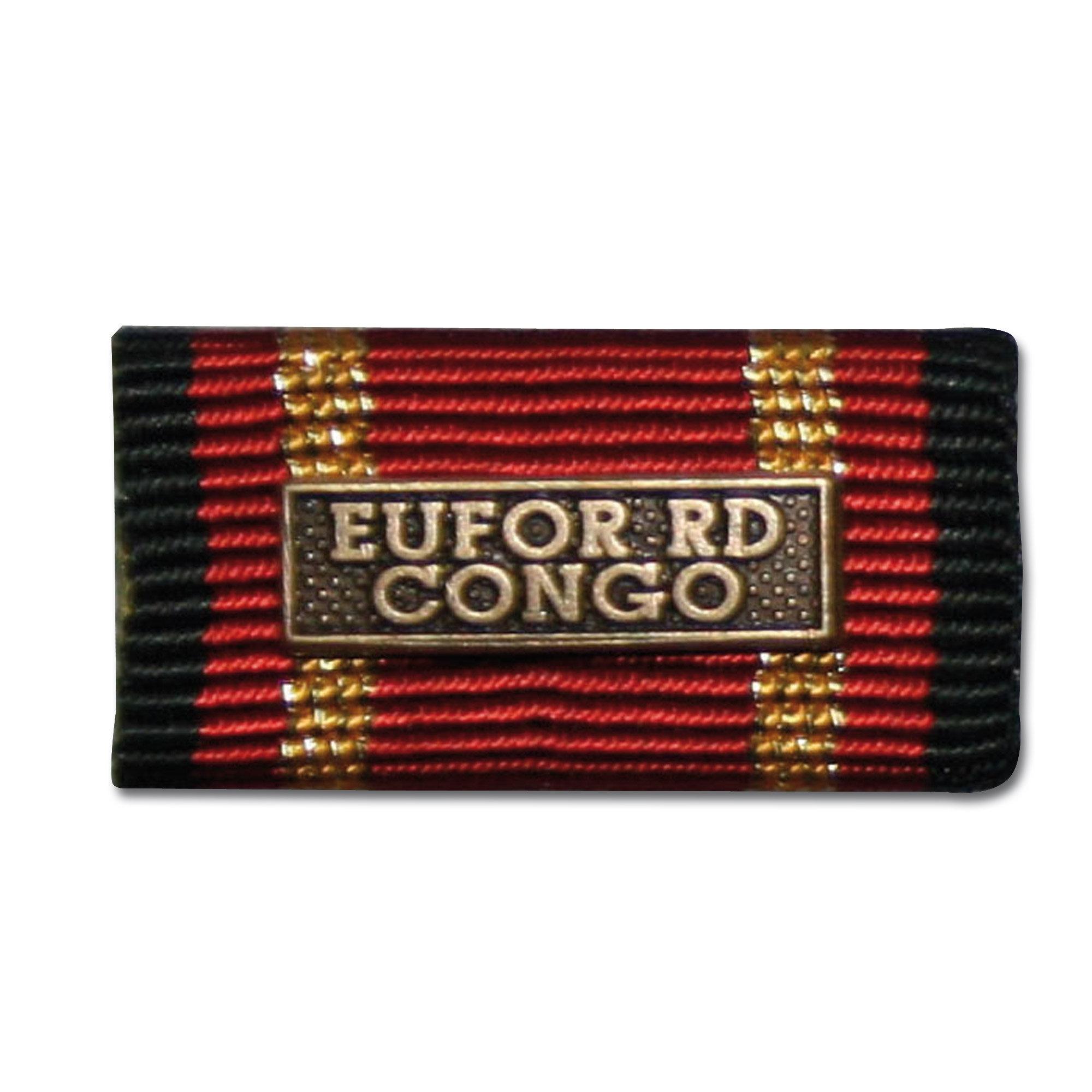 Label Pin Auslandseinsatz EUFOR RD CONGO bronze