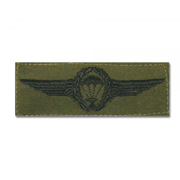 Distintivo in tessuto BW paracadutista nero/verde oliva