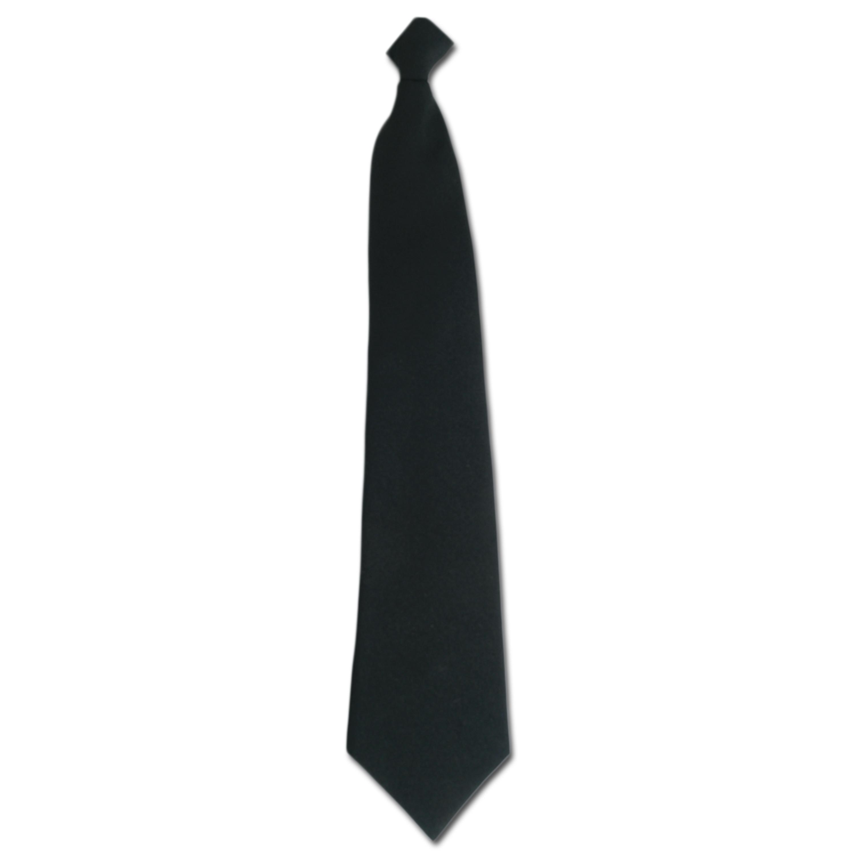 Cravatta Servizi di vigilanza nera con clip