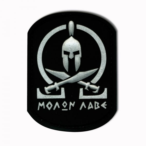 3D-Patch Molon Labe Spartan nero