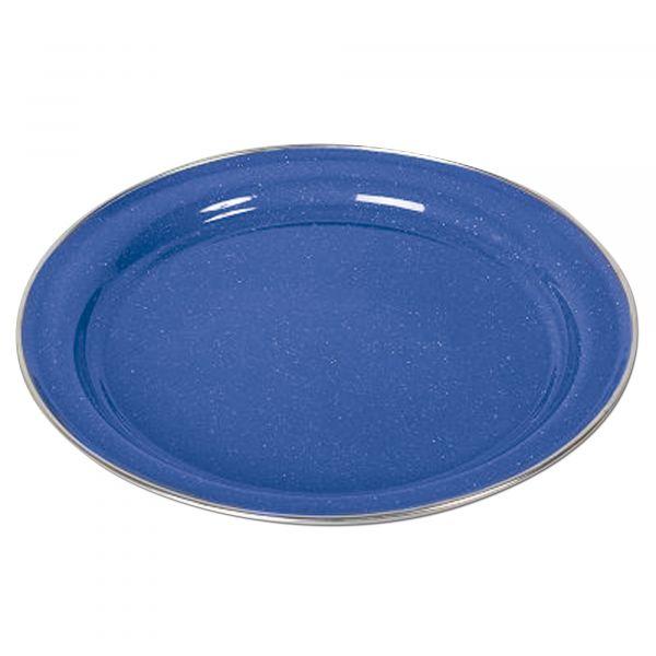 Piatto piano smaltato colore blu