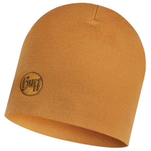 Cappello Merino thermal marca Buff solid camel