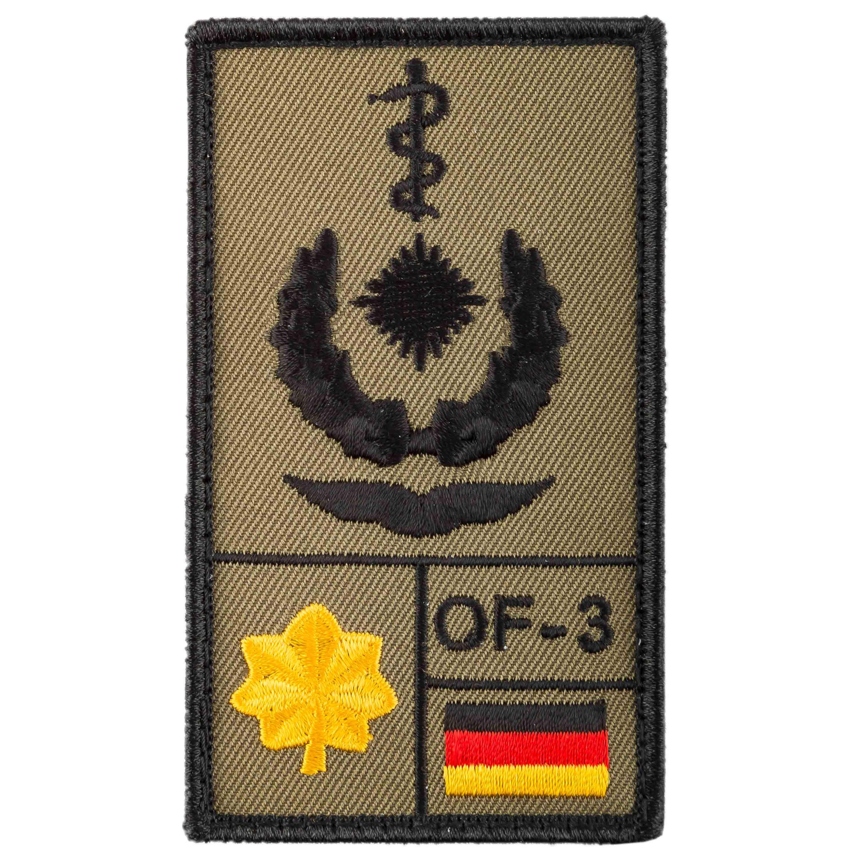 Patch di rango Medico dirigente Aeronautica Café Viereck sabbia