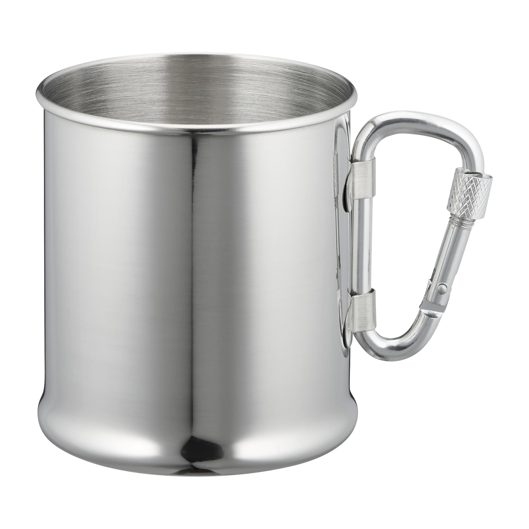 Tazza in acciaio inox con moschettone 220ml bicchieri tazze stoviglie da outdoor cucina - Normativa abbigliamento cucina ...