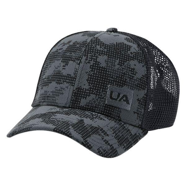 Cappello con visiera Under Armour Blitzing Trucker 3.0 nero camo