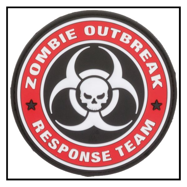 Patch 3D Zombie Outbreak Response Team pieni colori
