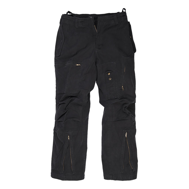 Pantaloni Aviator lavata nero