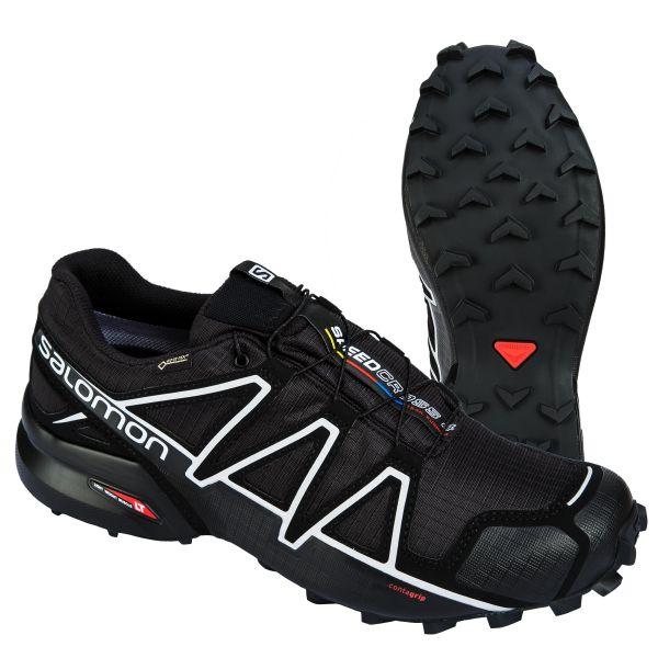 Scarpe Speedcross 4 GTX marca Salomon nero argento