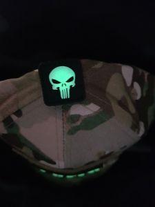 3D Patch Punisher Nachtleuchtend