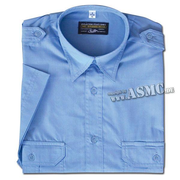 Camicia militare di servizio manica corta blu