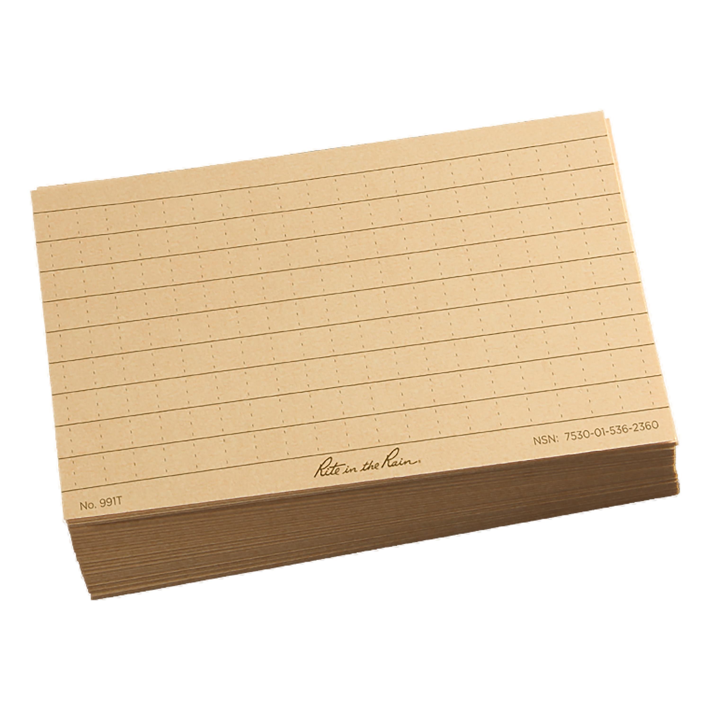 Fogli per scrittura Rite in the Rain Index Card 3 x 5 tan