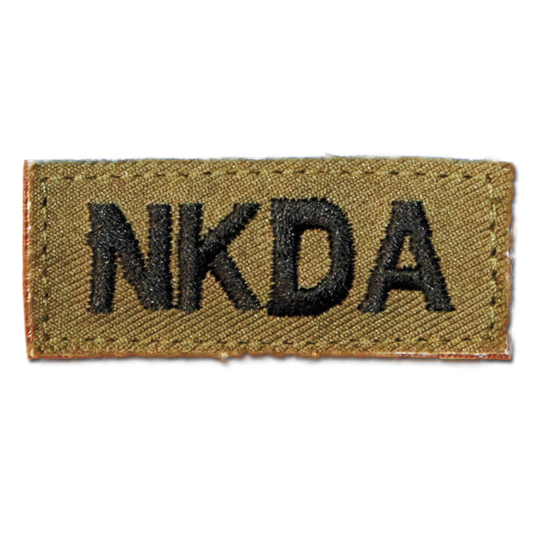 Distintivo in tessuto con velcro NKDA kaki