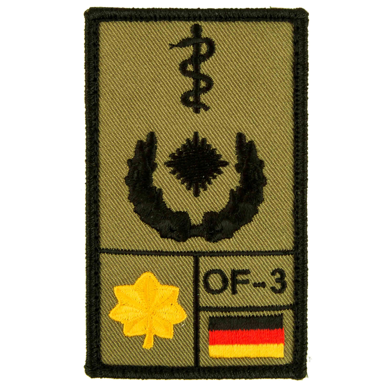 Patch di rango Medico dirigente Café Viereck oliva