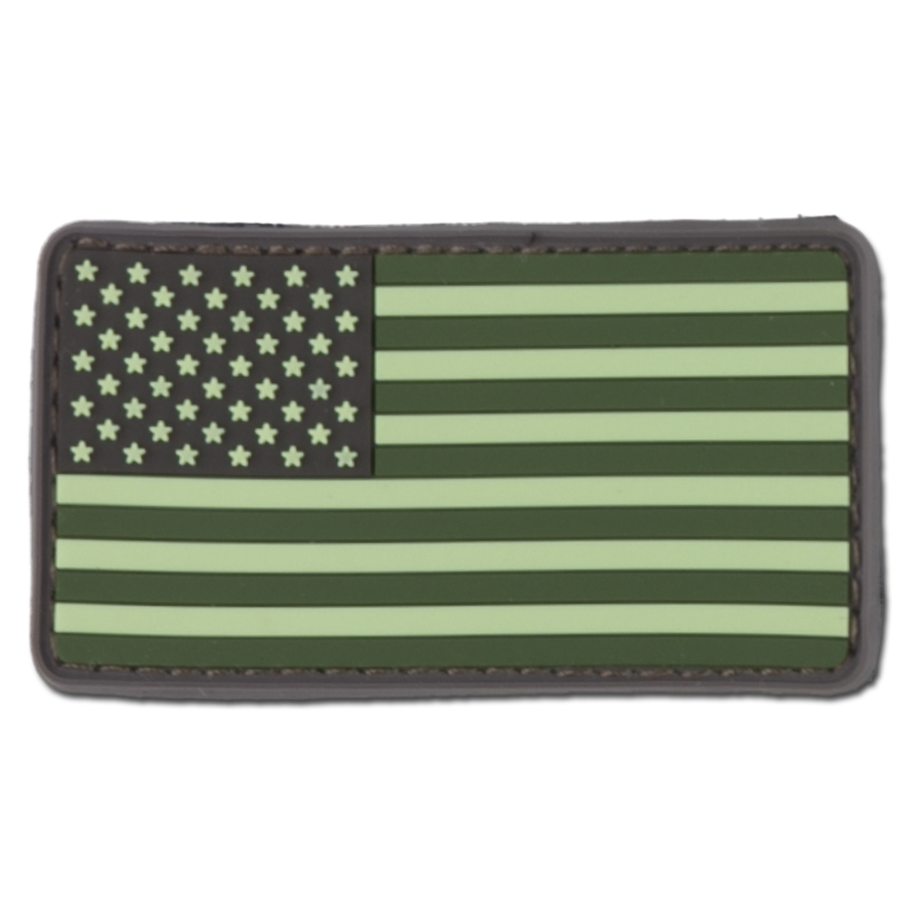 3D-Patch US Flag forest green