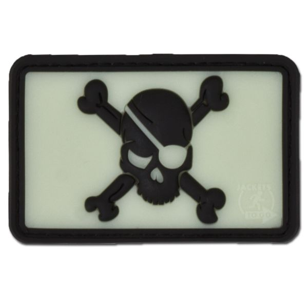 Patch 3D in gomma Pirate Skull luminescente invertibile