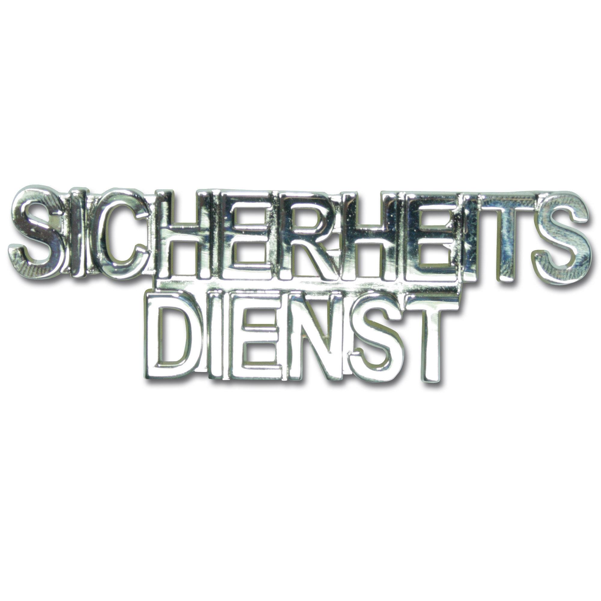Spilla da colletto SICHERHEITSDIENST argento