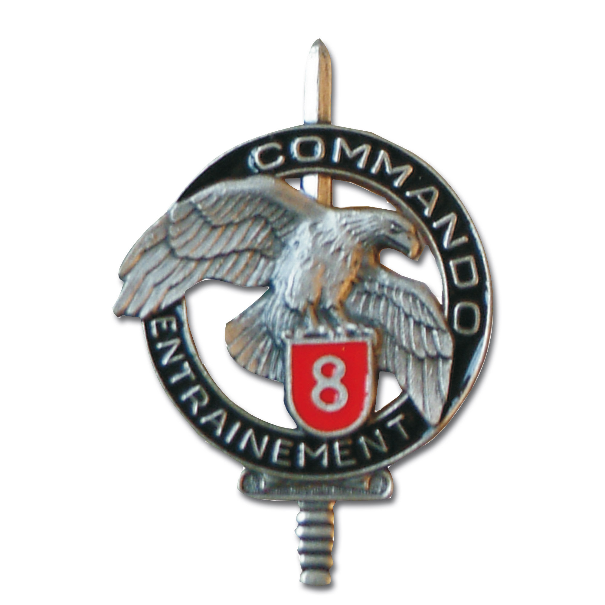 French metall insignia Commando CEC 8