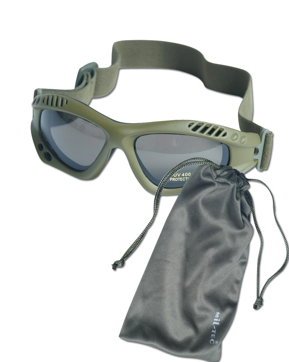Occhiali Commando Air-Pro oliva fumo