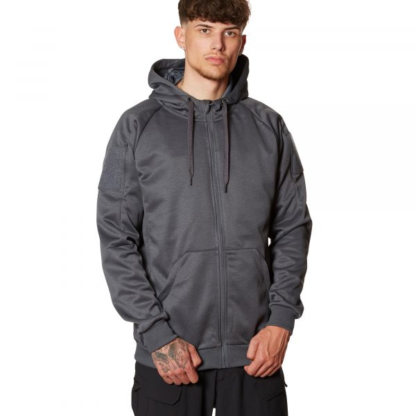 Felpa Helikon-Tex Urban Tactical Full Zip melange black grey