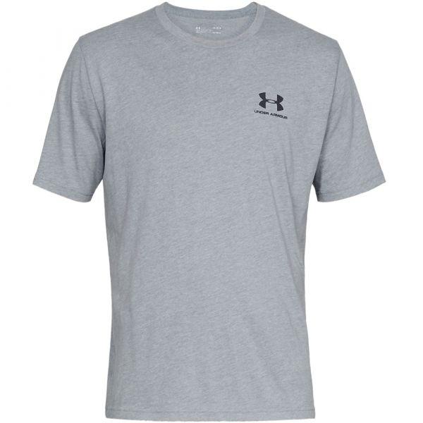 T-shirt UA Sportstyle Left Chest SS steel light heather