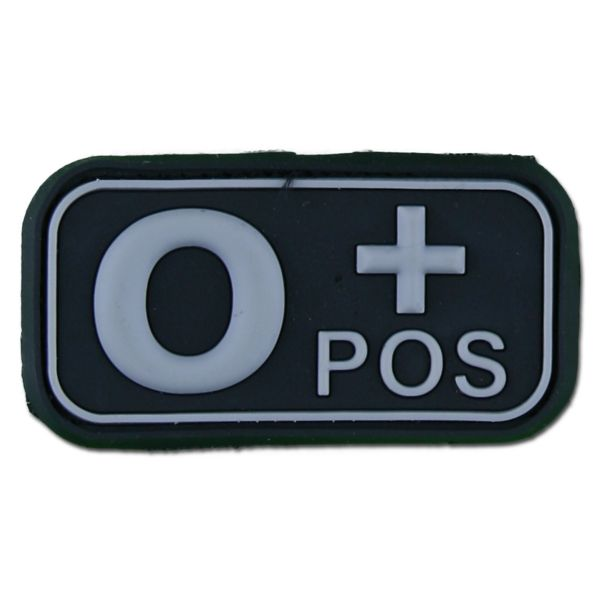 3D patch gruppo sanguigno 0 Pos swat