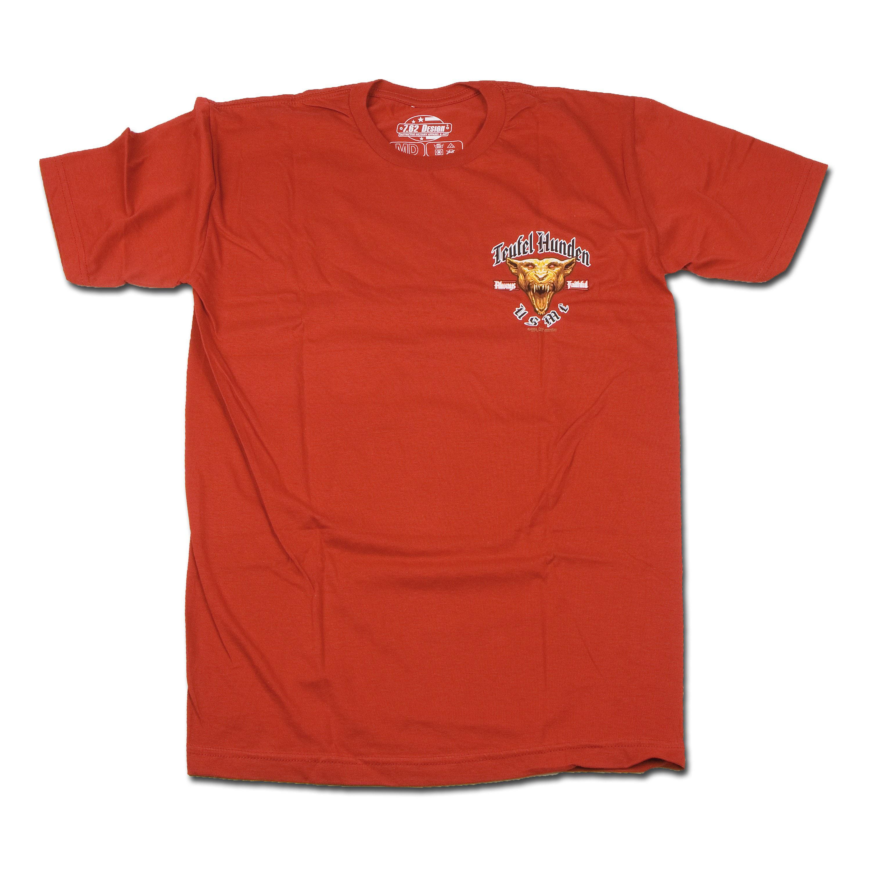 T-Shirt 7.62 Design Marines Devil Dog red