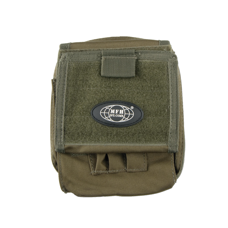 Tasca militare porta mappa, marca MFH, verde oliva