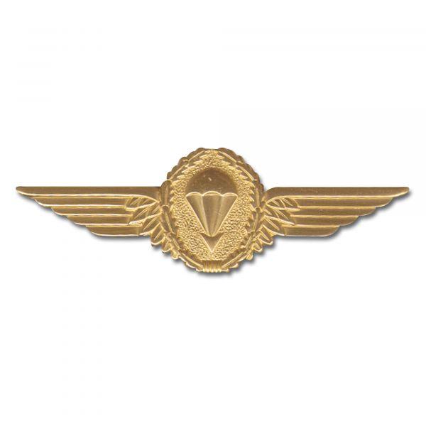 Badge BW in metallo da paracadutista oro