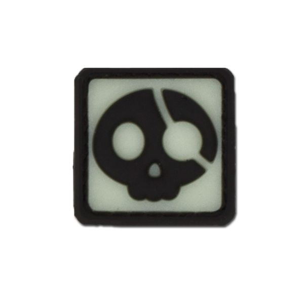 3D-Patch Halloween Pirate nachleuchtend invers