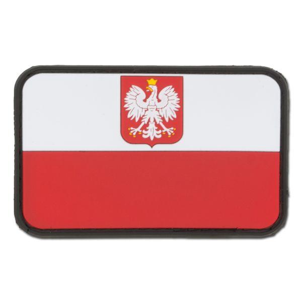Patch 3D bandiera Polonia con stemma pieni colori
