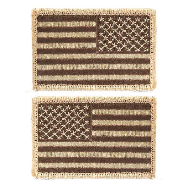 Patch bandiera degli Stati Uniti con velcro deserto