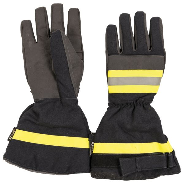 Guanti di protezione pompiere BW blu scuro usati