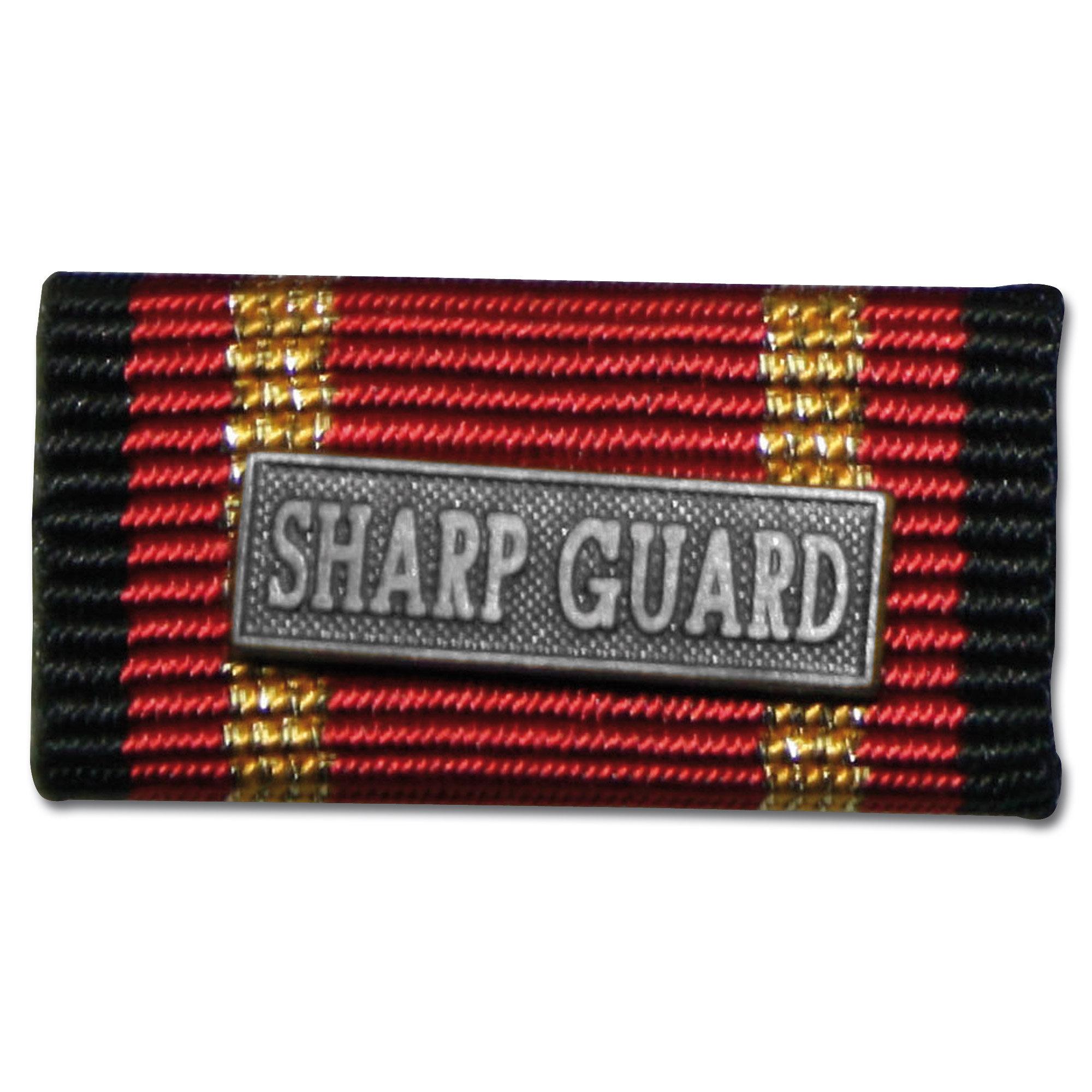 Label Pin Auslandseinsatz SHARP GUARD silber