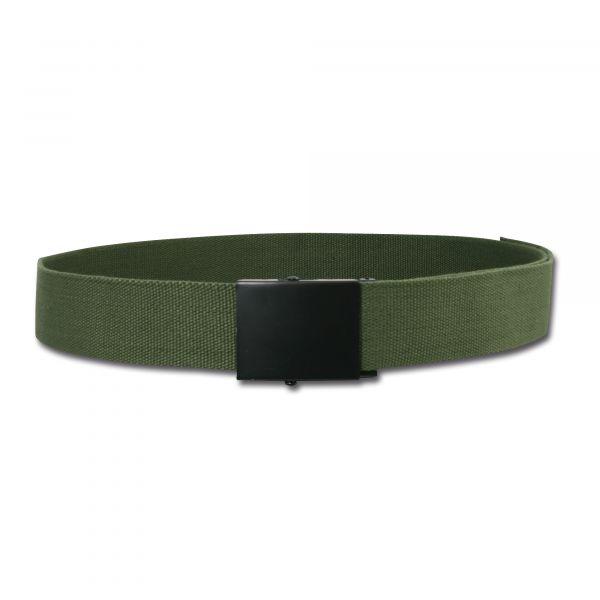 Cintura in tessuto larga colore verde oliva