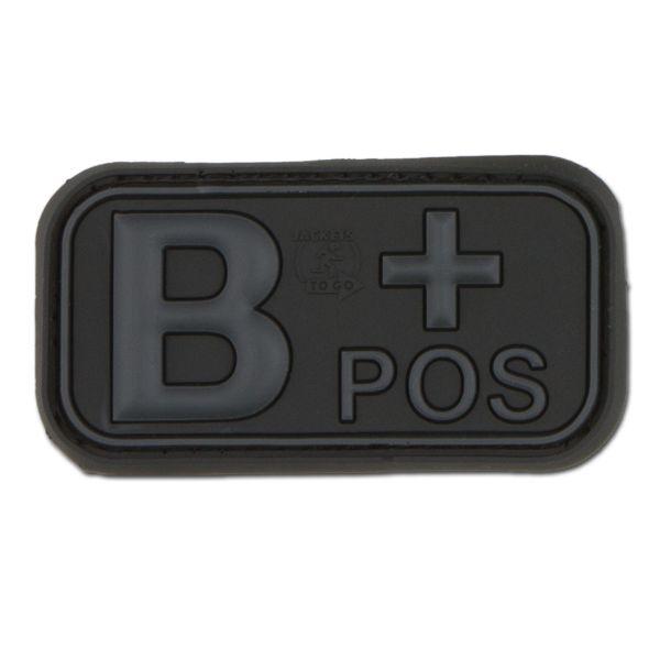 Patch 3D, gruppo sanguigno B+ Positivo, blackops