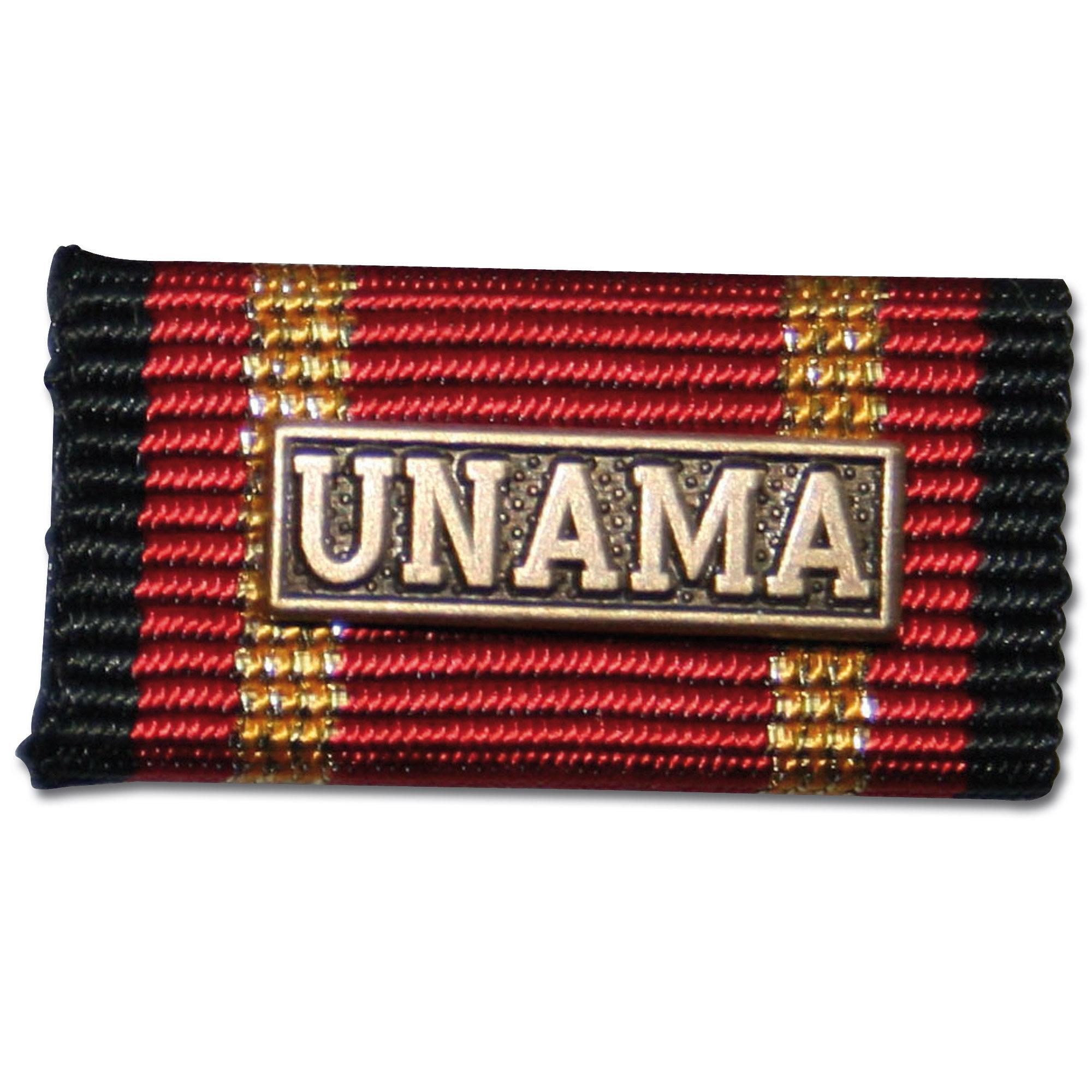 Label Pin Auslandseinsatz UNAMA bronze