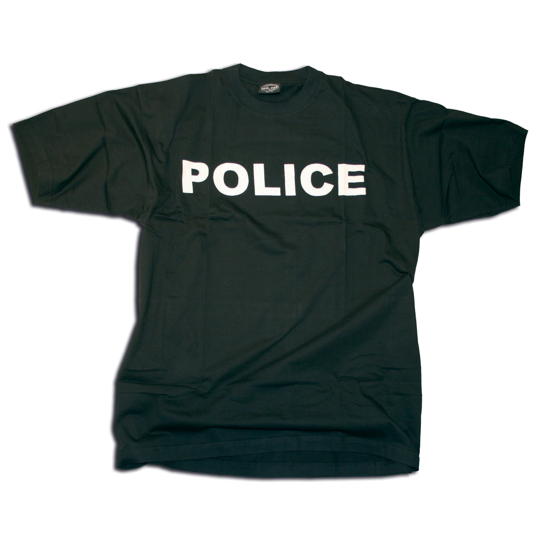 T-Shirt POLICE nera