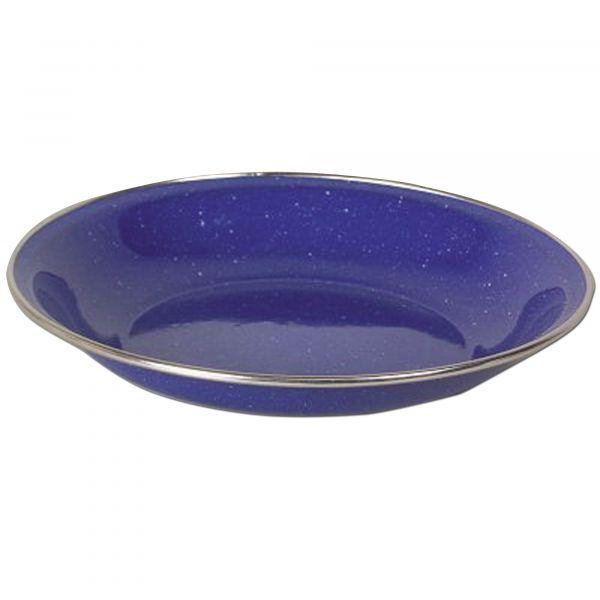 Piatto fondo smaltato Ø 20 cm blu