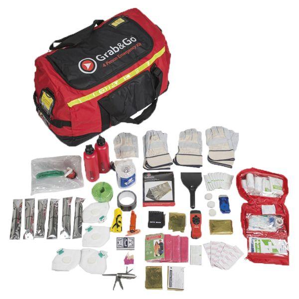 Kit d'emergenza adatto per 4 persone, marca Grab&Go
