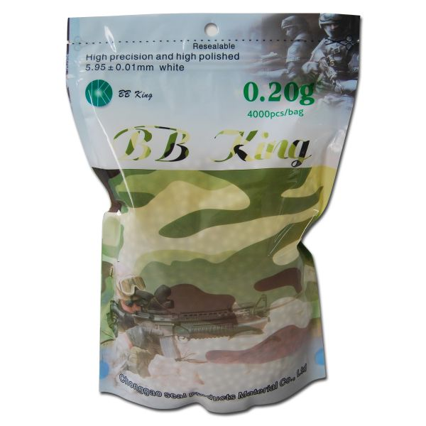 Pallini Softair BB King 6 mm 4000 pz. (0,20 g) bianco