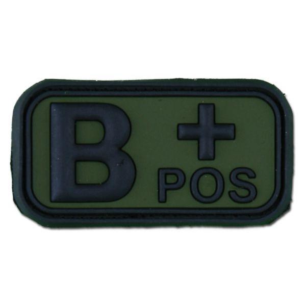 Patch 3D, gruppo sanguigno B+ Positivo, verde scuro