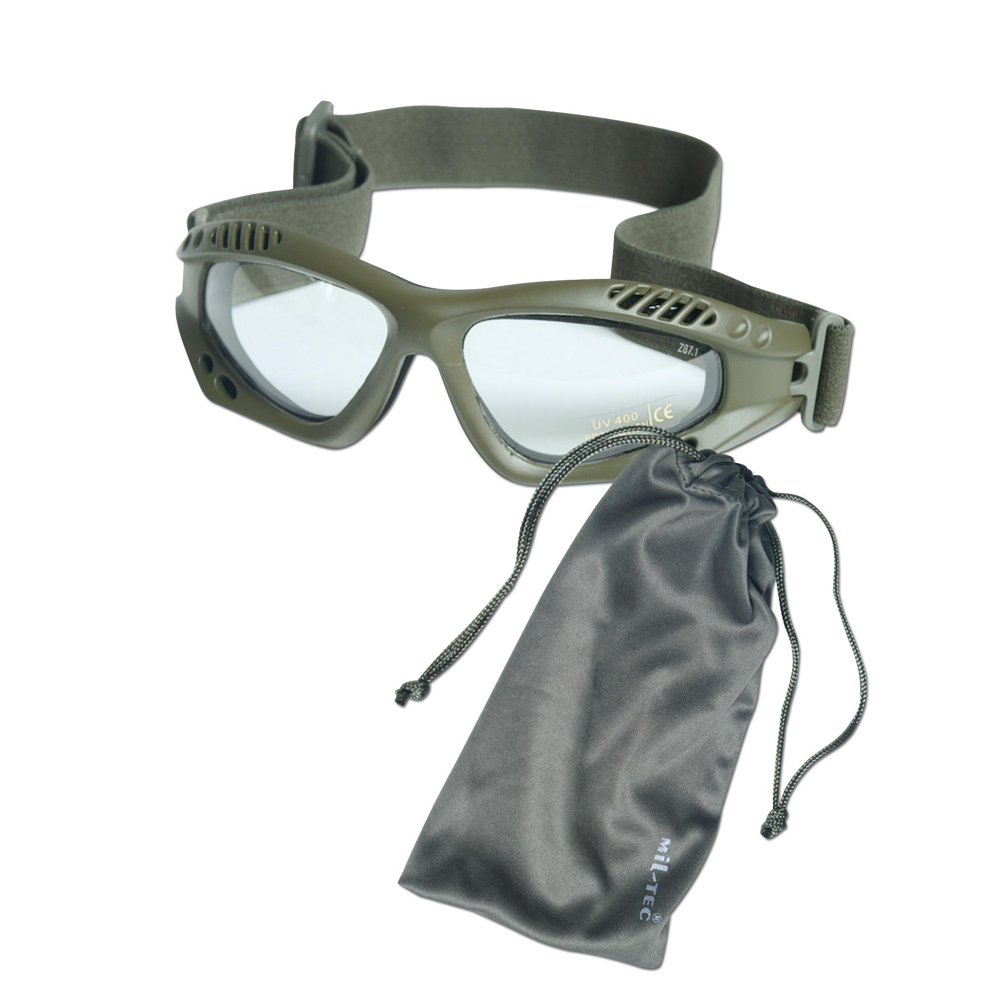 Occhiali Commando Air-Pro oliva chiaro